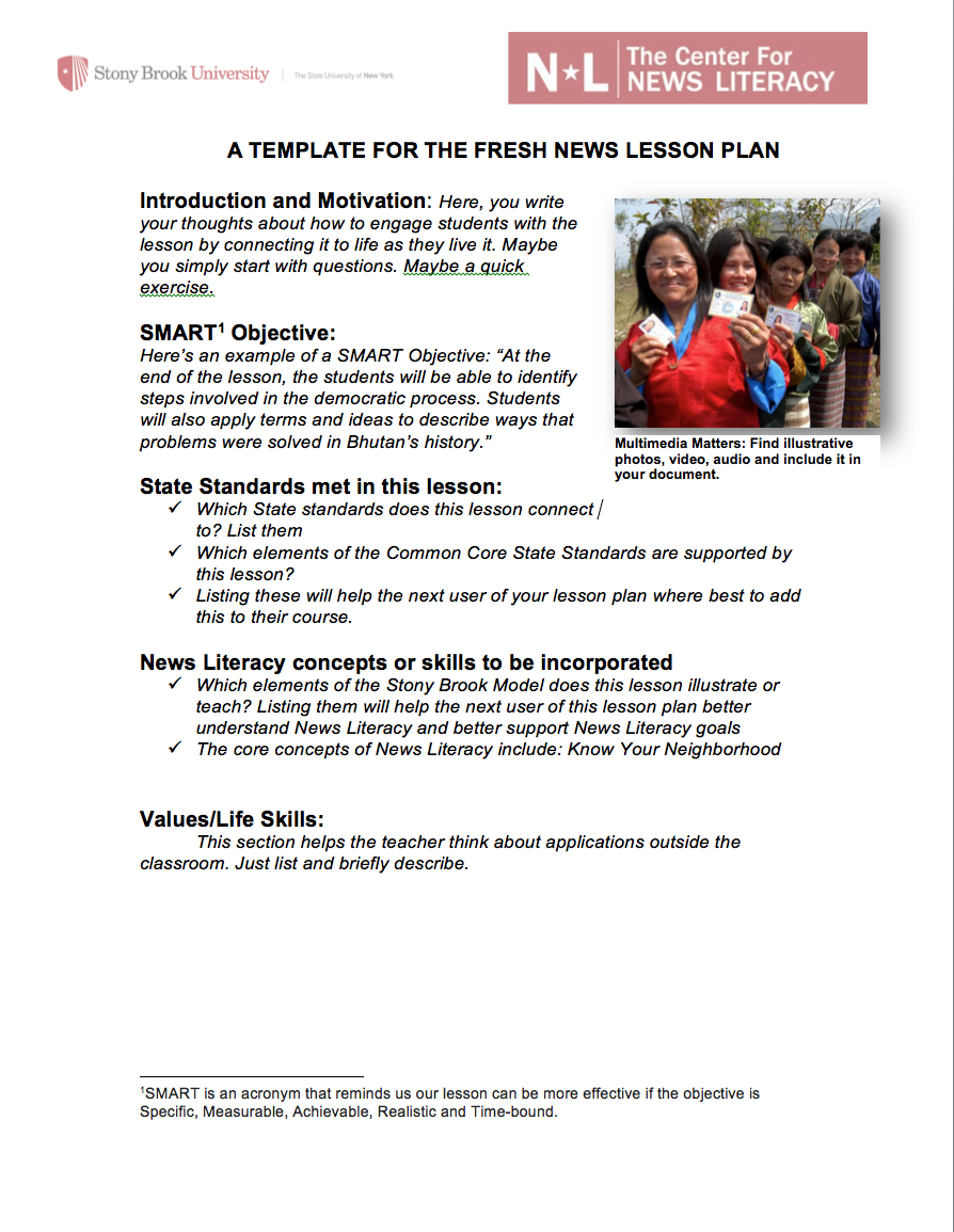 DIY News Literacy Lessons | Stony Brook Center for News Literacy